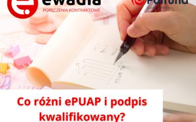 Co różni ePUAP i podpis kwalifikowany?
